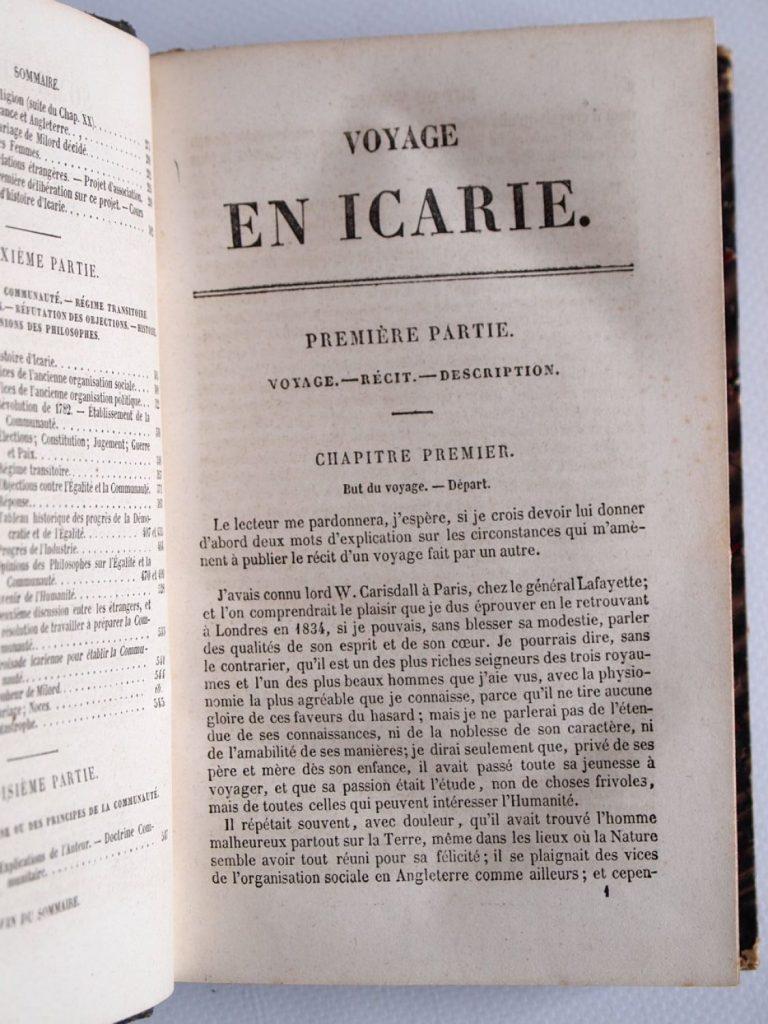 h 3000 cabet etienne voyage en icarie 1845 6 31816
