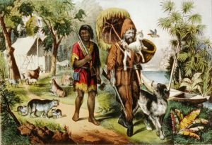 lithograph robinson crusoe currier ives 1874